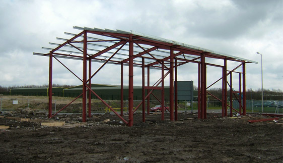 Cinnamon Brow Business Park Phase 2 - Steel Frame Erection