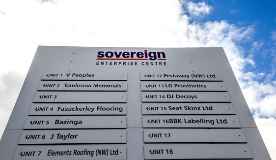 Sovereign Enterprise Centre - Sign